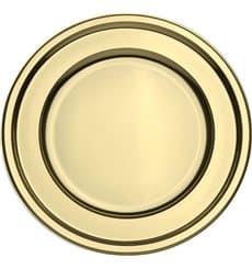 Piatto di Plastica PET Tondo Oro Ø18cm (180 Pezzi)