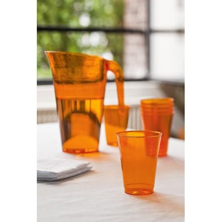 Brocca Plastica Arancione Riutilizzabile 1.500 ml (20 Pezzi)