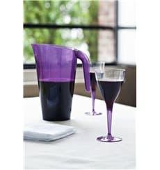 Calice di Plastica Vino Gambo Prugna 130ml (6 Pezzi)