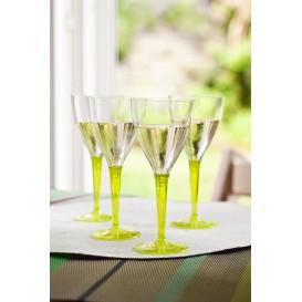 Calice di Plastica Vino Gambo Verde 130ml (60 Pezzi)