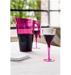Calice di Plastica Vino Gambo Lampone 130ml (60 Pezzi)