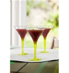 Coppa di Plastica Cocktail con Gambo Verde 100 ml (48 Pezzi)