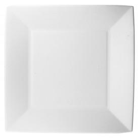Piatto Bianco Canna Zucchero Nice 23x23cm (50 Pezzi)