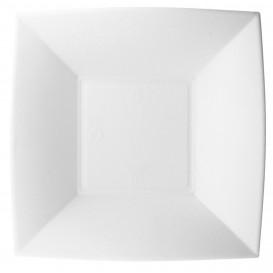 Piatto Fondo Bianco Canna Zucchero Nice 18x18cm (50 Pezzi)
