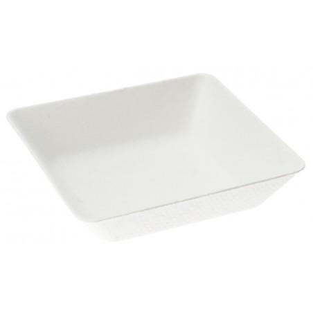 Piatto Fondo Canna da Zucchero Bianco 6,5x6,5 cm (50 Pezzi)