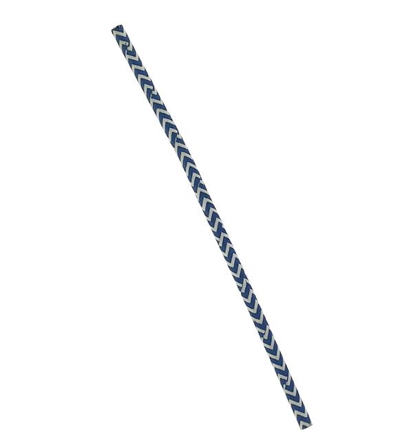 Cannuccia Dritta Carta Blu Bianco Ø6mm 20cm (6000 Pezzi)