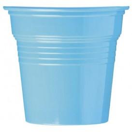 Bicchiere di Plastica PS Azurro 80ml Ø5,7cm (50 Pezzi)