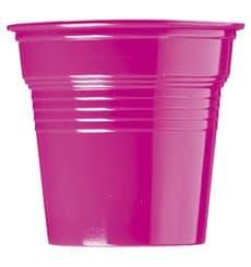 Bicchiere di Plastica PS Fucsia 80ml Ø5,7cm (50 Pezzi)