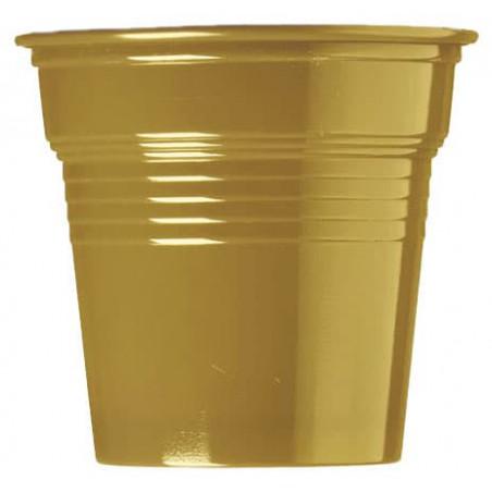 Bicchiere di Plastica PS Oro 80ml Ø5,7cm (50 Pezzi)