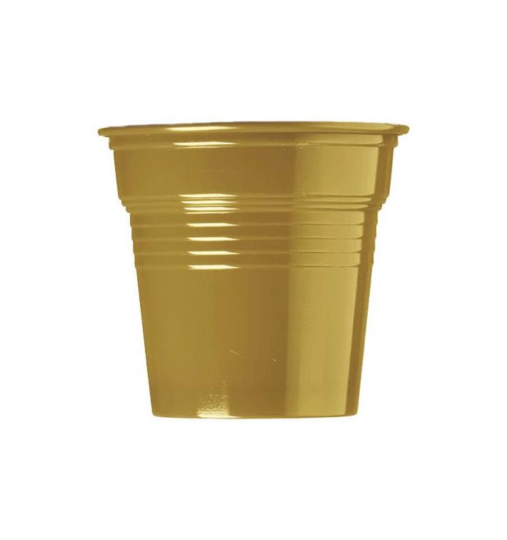 Bicchiere di Plastica PS Oro 80ml Ø5,7cm (750 Pezzi)