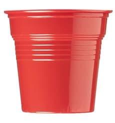 Bicchiere di Plastica PS Rosso 80ml Ø5,7cm (50 Pezzi)