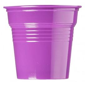 Bicchiere di Plastica PS Viola 80ml Ø5,7cm (50 Pezzi)