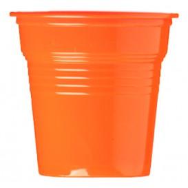 Bicchiere di Plastica PS Arancione 80ml Ø5,7cm (50 Pezzi)