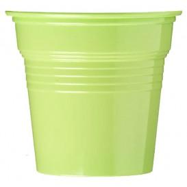 Bicchiere di Plastica PS Verde Lime 80ml Ø5,7cm (50 Pezzi)