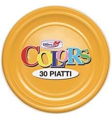 Piatto di Plastica PS Piano Mango 220mm (780 Pezzi)