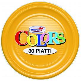 Piatto di Plastica PS Fondo Bianco 220mm (600 Pezzi)