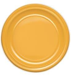 Piatto di Plastica PS Piano Mango 170mm (50 Pezzi)