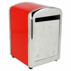Dispenser Tovaglioli Miniservis Acciaio Rosso (12 Pezzi)
