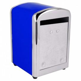 Dispenser Tovaglioli Miniservis Acciaio Blu (12 Pezzi)