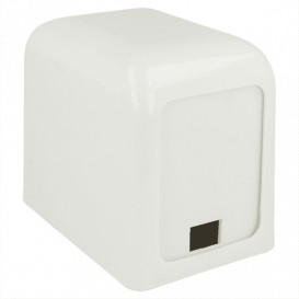 Dispenser Tovaglioli Miniservis Plastica Bianco 17x17cm (12 Pezzi)