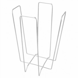Portatovaglioli Cocktail di Filo 11x11x18cm (12 Pezzi)