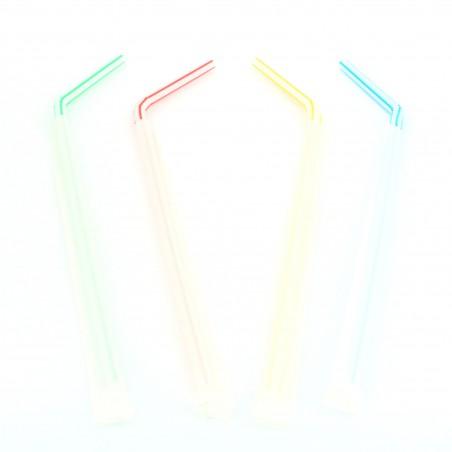 Cannuccia Flessible Imbustate di carta Ø5mm 23cm (1000 Pezzi)