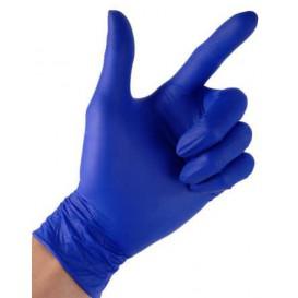 Guanti in Nitrile Senza Polvere Blu Taglia L 4,5G (100 Pezzi)