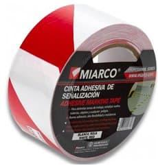 Nastro Adesivo di Segnalazione 5cmx33m Bianco/Rosso (36 Pezzi)