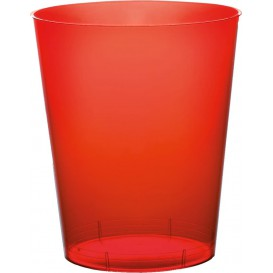 Bicchiere di Plastica Moon Rosso Trasp. PS 350ml (20 Pezzi)