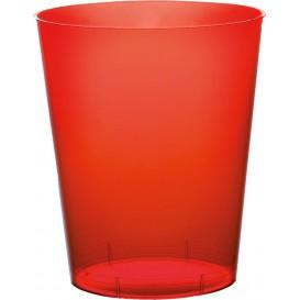 Bicchiere di Plastica Moon Rosso Trasp. PS 350ml (400 Pezzi)