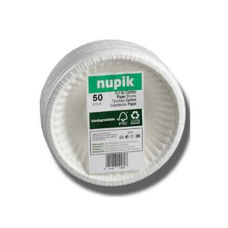 Ciotola di Carta Bianco Biodegradabili 250ml (50 Pezzi)