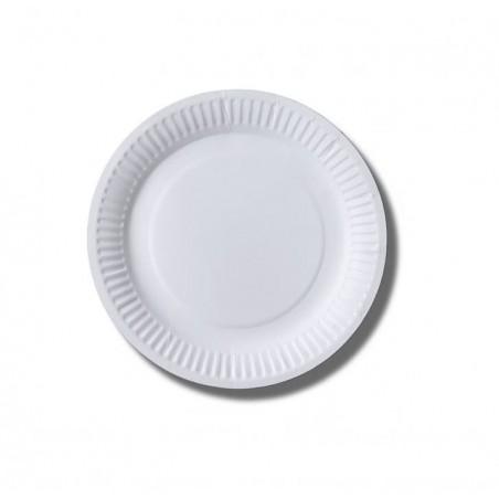 Piatto di Carta Biocoated Bianco Ø18 cm (800 Pezzi)