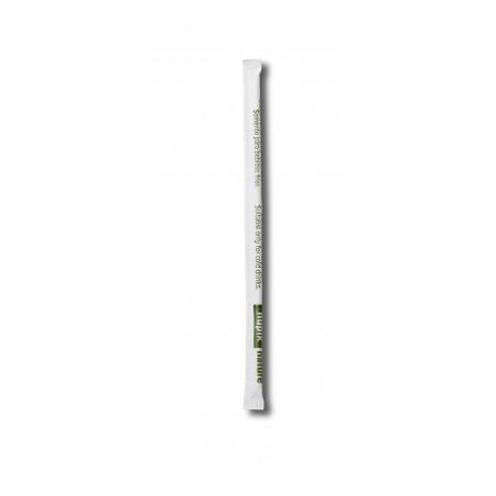 Cannuccia Dritta Insaccato di PLA Nero Ø6mm 14cm (250 Pezzi)