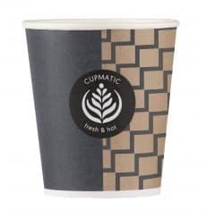 Bicchiere di Carta Eco Cupmatic 6Oz/192ml Ø7,0cm (100 Pezzi)