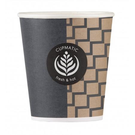 Bicchiere di Carta Eco Cupmatic 6Oz/192ml Ø7,0cm (3000 Pezzi)
