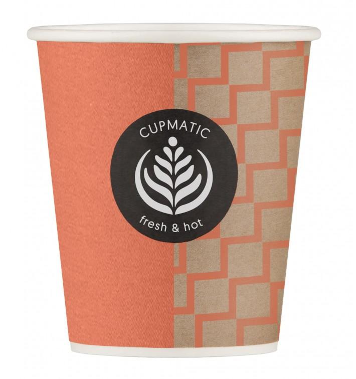 Bicchiere di Carta Eco Cupmatic 8Oz/210ml Ø7,0cm (100 Pezzi)