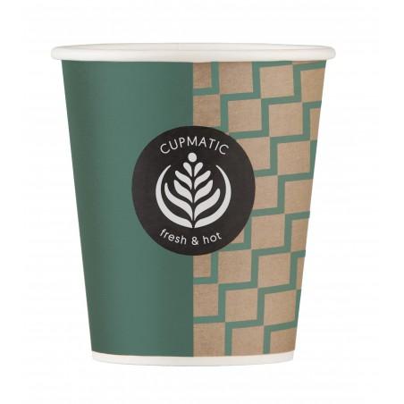 Bicchiere di Carta Eco Cupmatic 9Oz/280ml Ø8,0cm (1000 Pezzi)