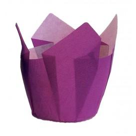 Pirottini Muffin Tulip Ø50x50/80 mm Viola (125 Pezzi)