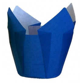 Pirottini Muffin Tulip Ø50x50/80 mm Blu (125 Pezzi)