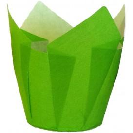 Pirottini Muffin Tulip Ø50x50/80 mm Verde (125 Pezzi)