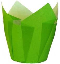 Pirottini Muffin Tulip Ø50x42/72 mm Verde (135 Pezzi)