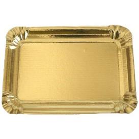 Vassoiodi Cartone Rettangolare Oro 12x19 cm (100 Pezzi)