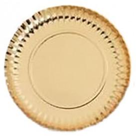 Piatto di Carta Tondo Oro 270 mm (400 Pezzi)