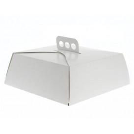Scatola di Carta Bianca Torte Quadrata 24,5x24,5x10 cm (100 Pezzi)