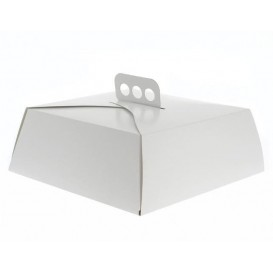 Scatola di Carta Bianca Torte Quadrata 30,5x30,5x10 cm (100 Pezzi)