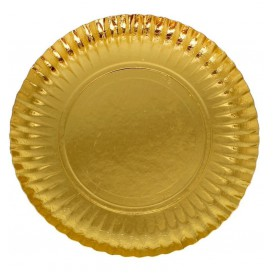 Piatto di Carta Tondo Oro 100 mm (100 Pezzi)
