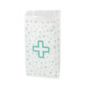 Sacchetto di Carta Bianca Farmacia 14+7x27cm (125 Pezzi)