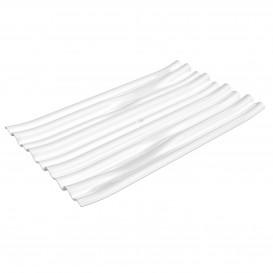 """Piatto Degustazione PS """"Bamboo"""" Bianco 10x6cm (50 Pezzi)"""