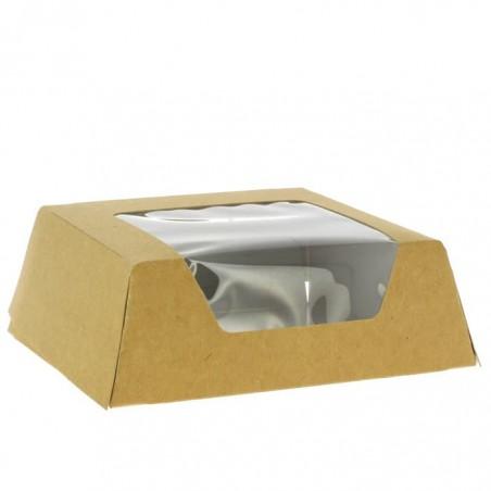 Scatola di Carta Kraft con Finestra 120x120x40mm (500 Pezzi)