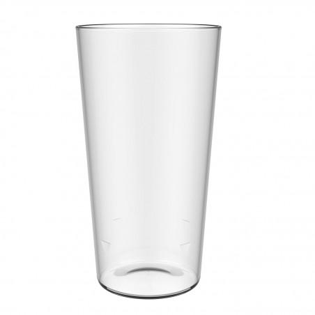 Bicchiere Riutilizzabili SAN per Birra Trasparente 586ml (50 Pezzi)